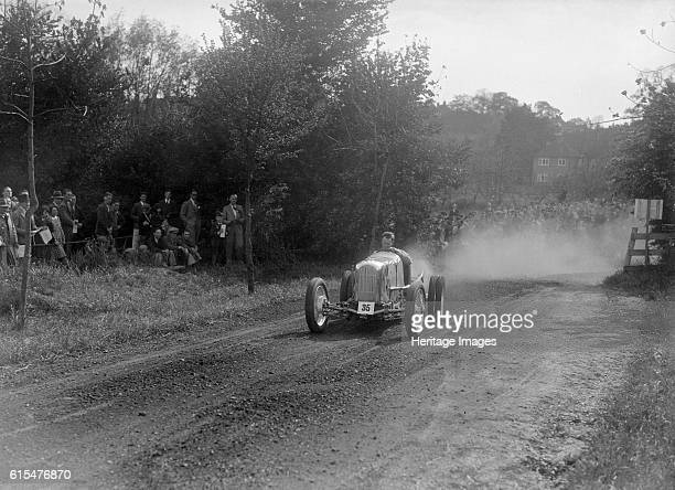 Frazer-Nash single seater, Bugatti Owners Club Hill Climb, Chalfont St Peter, Buckinghamshire, 1935. Frazer-Nash Event Entry No: 35. Single seater....