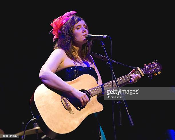 Frazey Ford of The Be Good Tanyas performs on stage at Barbican Centre on February 3 2013 in London England
