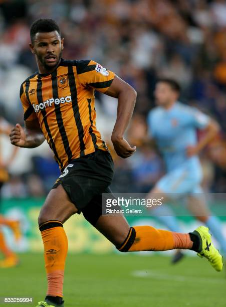 Frazier Campbell of Hull City during the Sky Bet Championship match between Hull City and Wolverhampton Wanderers at KCOM Stadium on August 15 2017...
