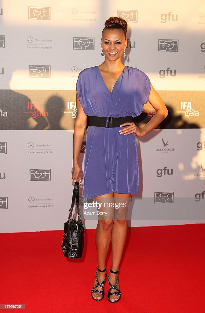 Fraziska Urio arrives for the IFA 2013 Consumer Technology Trade Fair Opening Gala at Messe Berlin on September 5, 2013 in Berlin, Germany.