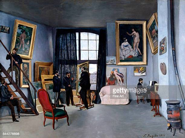 Frédéric Bazille Bazille's Studio oil on canvas 98 x 128 cm Musee d'Orsay Paris
