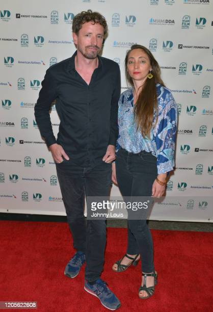 Frédéric Choffat and Director Julie Gilbert from feature film 'My Little One' are seen during 37th Annual Miami Film Festival presented by Miami Dade...