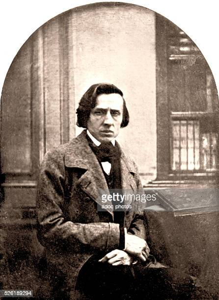 Fr��d��ric Fran��ois Chopin Polish composer and pianist born in Zelazowa Wola En 1848 After a daguerreotype today disappeared by LouisAuguste Bisson