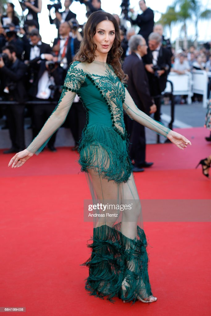 Frédérique Bel attends the 'Ismael's Ghosts (Les Fantomes d'Ismael)' screening and Opening Gala during the 70th annual Cannes Film Festival at Palais des Festivals on May 17, 2017 in Cannes, France.