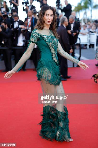 Frédérique Bel attends the Ismael's Ghosts screening and Opening Gala during the 70th annual Cannes Film Festival at Palais des Festivals on May 17...