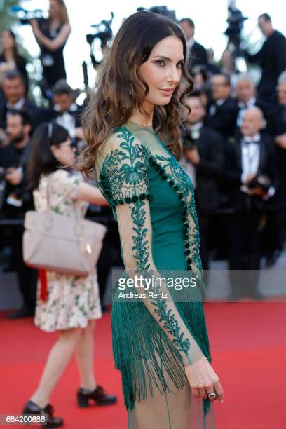 Frédérique Bel attends the 'Ismael's Ghosts ' screening and Opening Gala during the 70th annual Cannes Film Festival at Palais des Festivals on May...