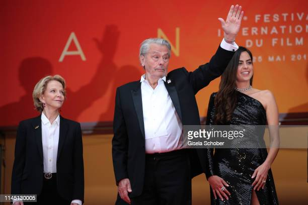 Frédérique Bredin Alain Delon and his daughter Anouchka Delon Franck Riester and president of the festival Pierre Lescure attend the screening of A...