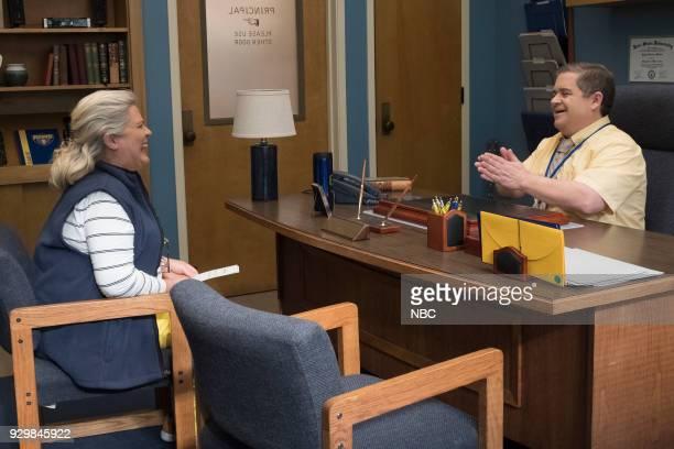 "AP BIO ""Freakin' Enamored"" Episode 106 Pictured Paula Pell as Helen Patton Oswalt as Principal Durbin"