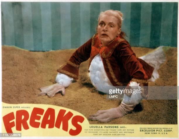 Freaks, lobbycard, Olga Baclanova, 1932.