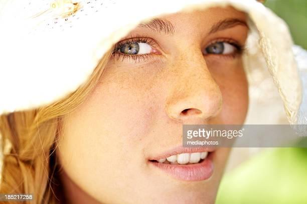 Freckled Mädchen