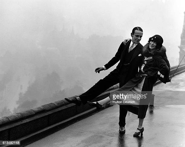 Fred and Adele Astaire dance together on the roof of the Savoy Hotel