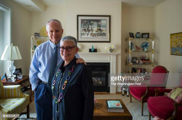 Fred and Jill Klein pose for a portrait in their Kennedy Warren apartment For a story on baby boomers selling their homes and renting in Washington...