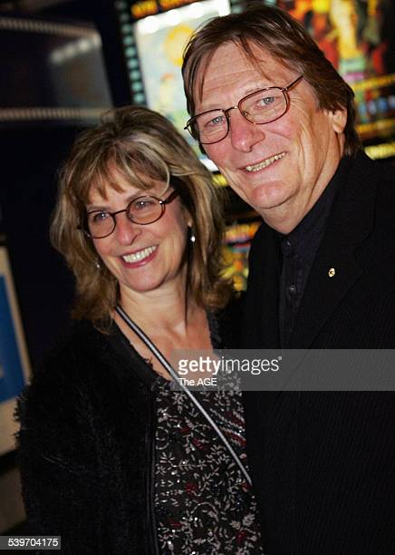 Fred and Mary Schepisi arrive at the Melbourne International Film Festival on 20th July 20 2005 THE AGE NEWS Picture by JOHN DONEGAN