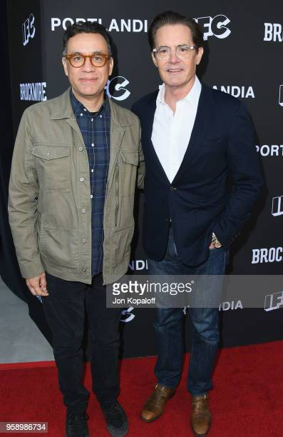 Fred Armisen and Kyle MacLachlan attend IFC Hosts Brockmire And Portlandia EMMY FYC Red Carpet Event at Saban Media Center on May 15 2018 in North...
