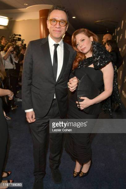 Fred Armisen and Natasha Lyonne attend The 2020 InStyle And Warner Bros 77th Annual Golden Globe Awards PostParty at The Beverly Hilton Hotel on...