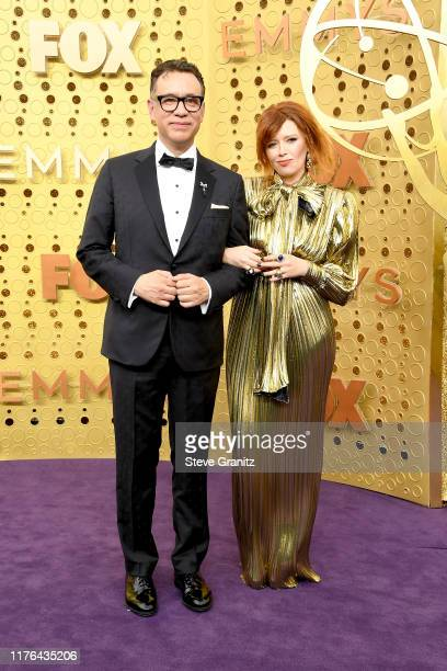 Fred Armisen and Natasha Lyonne attend the 71st Emmy Awards at Microsoft Theater on September 22, 2019 in Los Angeles, California.