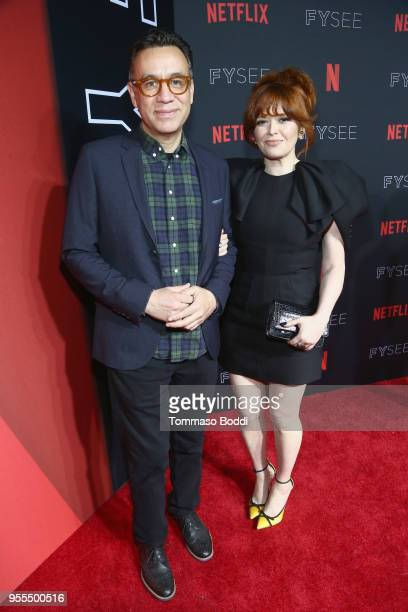 Fred Armisen and Natasha Lyonne attend the Netflix FYSEE Kick-Off at Netflix FYSEE At Raleigh Studios on May 6, 2018 in Los Angeles, California.