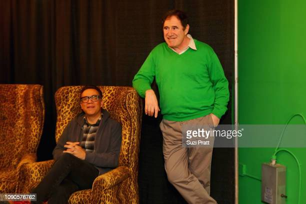 Fred Armisen and Richard Kind attend the 'Documentary Now' Red Carpet Screening And After Party during the 2019 Sundance Film Festival at The...