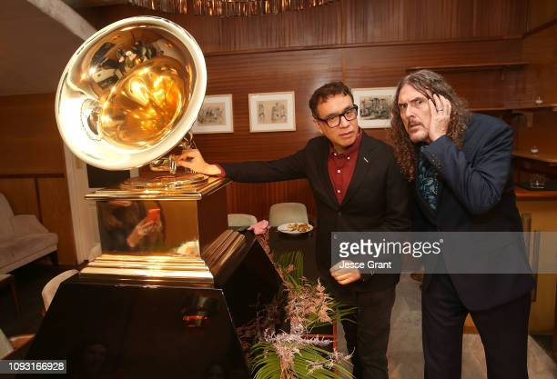 Fred Armisen and Weird Al Yankovic attend LAC's 61st GRAMMY Nominee Celebration on February 2 2019 in Los Angeles California