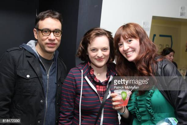 Fred Armisen Elisabeth Moss and Marielle Heller attend BEYOND FUNDERDOME COMEDY BLOWOUT A Fundraiser Benefiting THE DIARY OF A TEENAGE GIRL at 3LD...