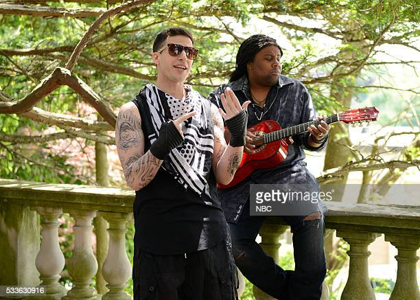 LIVE Fred Armisen Episode 1704 Pictured Andy Samberg and Kenan Thompson during the Finest Girl sketch on May 21 2016