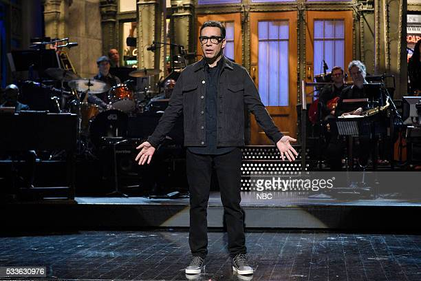 LIVE Fred Armisen Episode 1704 Pictured Host Fred Armisen during the monologue on May 21 2016