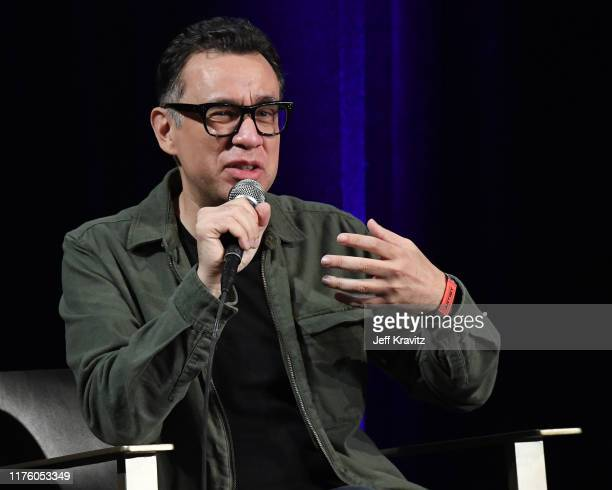 Fred Armisen speaks onstage at The Kicker during the 2019 Life is Beautiful Music Art Festival on September 20 2019 in Las Vegas Nevada
