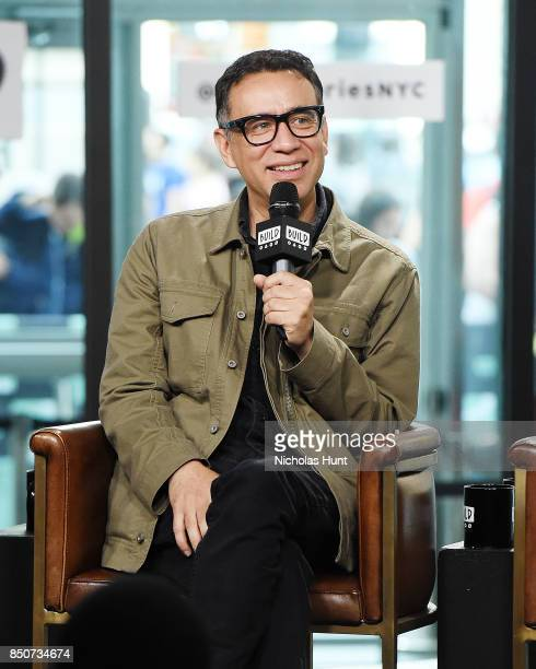 Fred Armisen visits the Build Series to discuss the animated film The LEGO Ninjago Movie at Build Studio on September 21 2017 in New York City