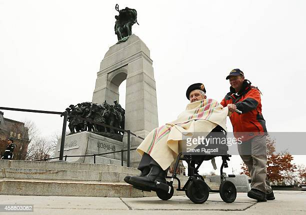 Fred Arsenault who lives in Toronto pays his respects at the Tomb of the Unknown Soldier at the War Memorial Arsenault served with the Cape Breton...