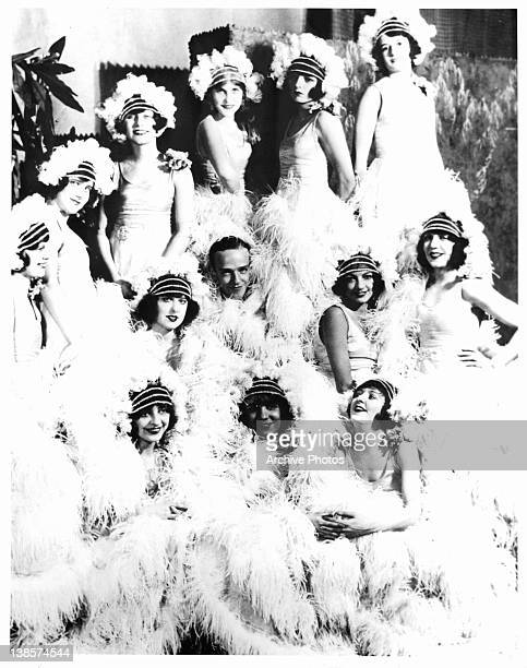 Fred Astaire Adele Astaire and chorus dancers publicity portrait for the stage production 'Lady Be Good' 1924