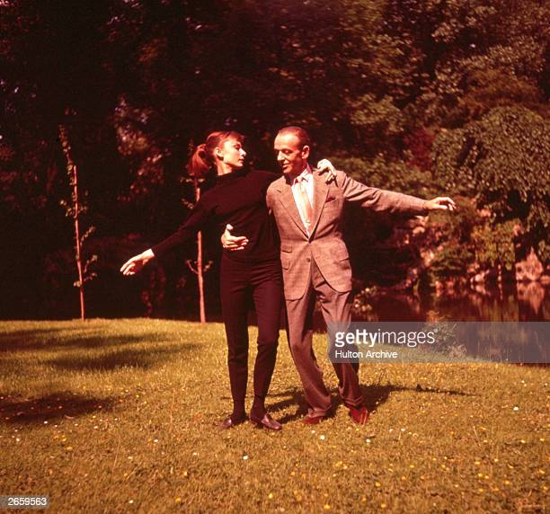 Fred Astaire and Audrey Hepburn dance together in a scene from the Paramount musical 'Funny Face' directed by Stanley Donen