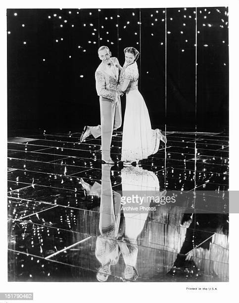 Fred Astaire and Eleanor Powell on stage together in a scene from the film 'Broadway Melody Of 1940' 1940