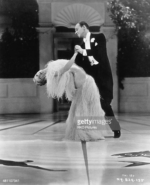 Fred Astaire and Ginger Rogers in a dance scene from the musical comedy film 'Top Hat' directed by Mark Sandrich 1935