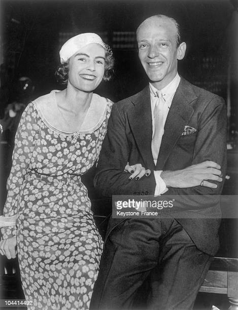 Fred ASTAIRE and his first wife Phyllis POTTER in New York on December 7 their wedding day