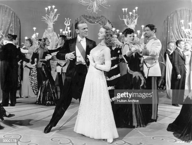 Fred Astaire and Lucille Bremer are ready to dance in the film 'Ziegfeld Follies' a spectacular revue depicted as a dream sequence in heaven dreamt...