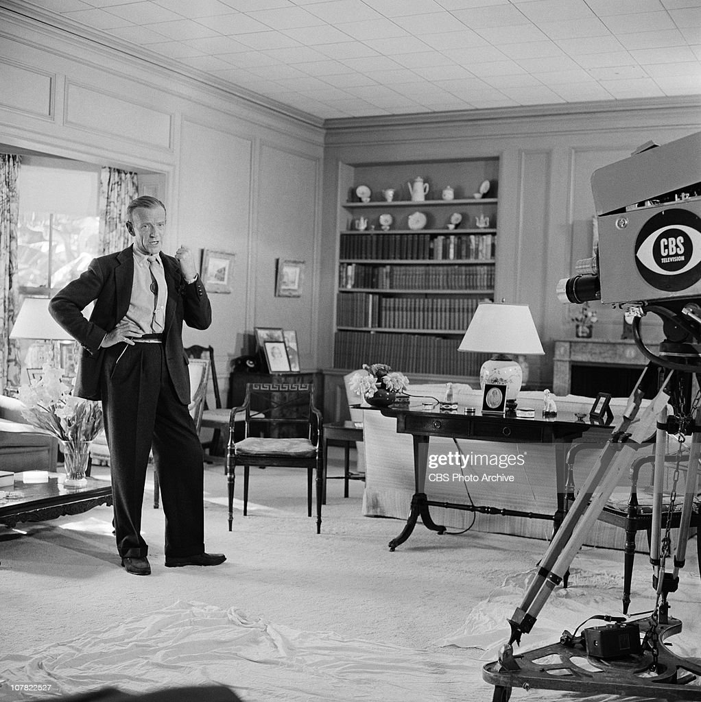 Fabulous Fred Astaire At Home For Person To Person Image Dated June Download Free Architecture Designs Grimeyleaguecom