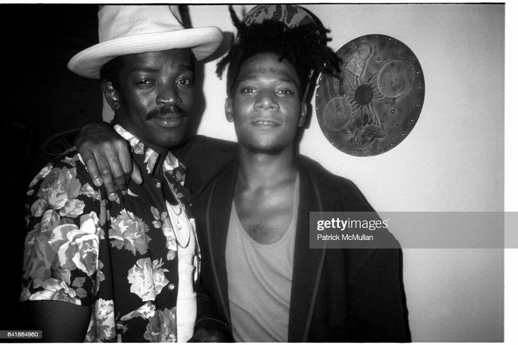 Fred Brathwaite  (Fab 5 Freddy) and Jean Michel Basquiat at Anita Sarko's Voodoo Party at the Palladium : Nachrichtenfoto