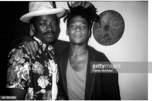 Fred Brathwaite and Jean Michel Basquiat at Anita Sarko's Voodoo Party at the Palladium Friday June 13 1986