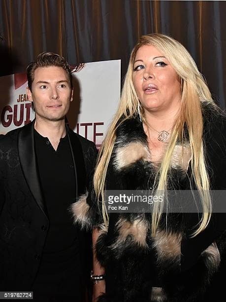 Fred Cauvin and Loana Petrucciani attend 'Guitar Tribute' by Golden disc awarded Jean Pierre Danel at Hotel Burgundy on April 7 2015 in Paris France