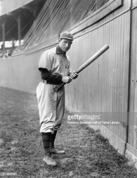 Fred Clarke of the Pittsburgh Pirates holds a bat Clarke played with the Pirates from 19001915
