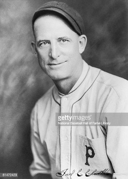 Fred Clarke of the Pittsburgh Pirates poses for a portrait Fred Clarke played for the Louisville Colonels from 18941899 and the Pittsburgh Pirates...