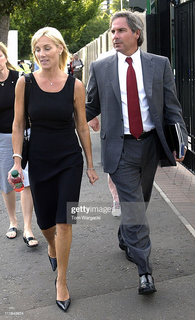 Fred Couples and guest during Fred Couples Sighting at Wimbledon Tennis - July 7, 2006 in Wimbledon, Great Britain.