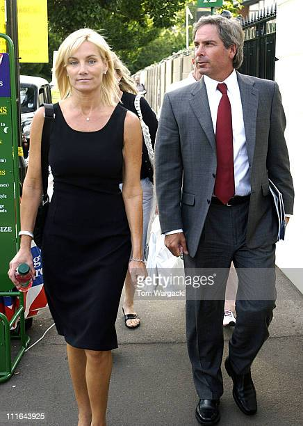 Fred Couples and guest during Fred Couples Sighting at Wimbledon Tennis July 7 2006 in Wimbledon Great Britain