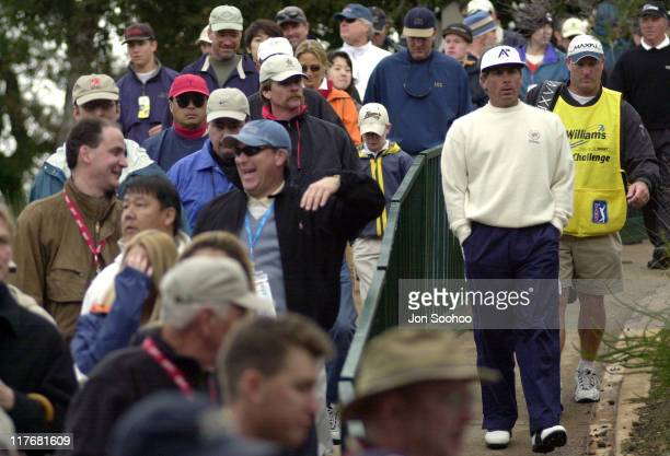 Fred Couples during 2001 Williams World Challenge Day Two at Sherwood Country Club in Thousand Oaks California