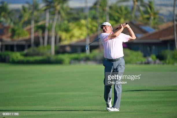 KA'UPULEHUKONA HI JANUARY 18 Fred Couples plays his second shot on the 16th hole during the first round of the PGA TOUR Champions Mitsubishi Electric...