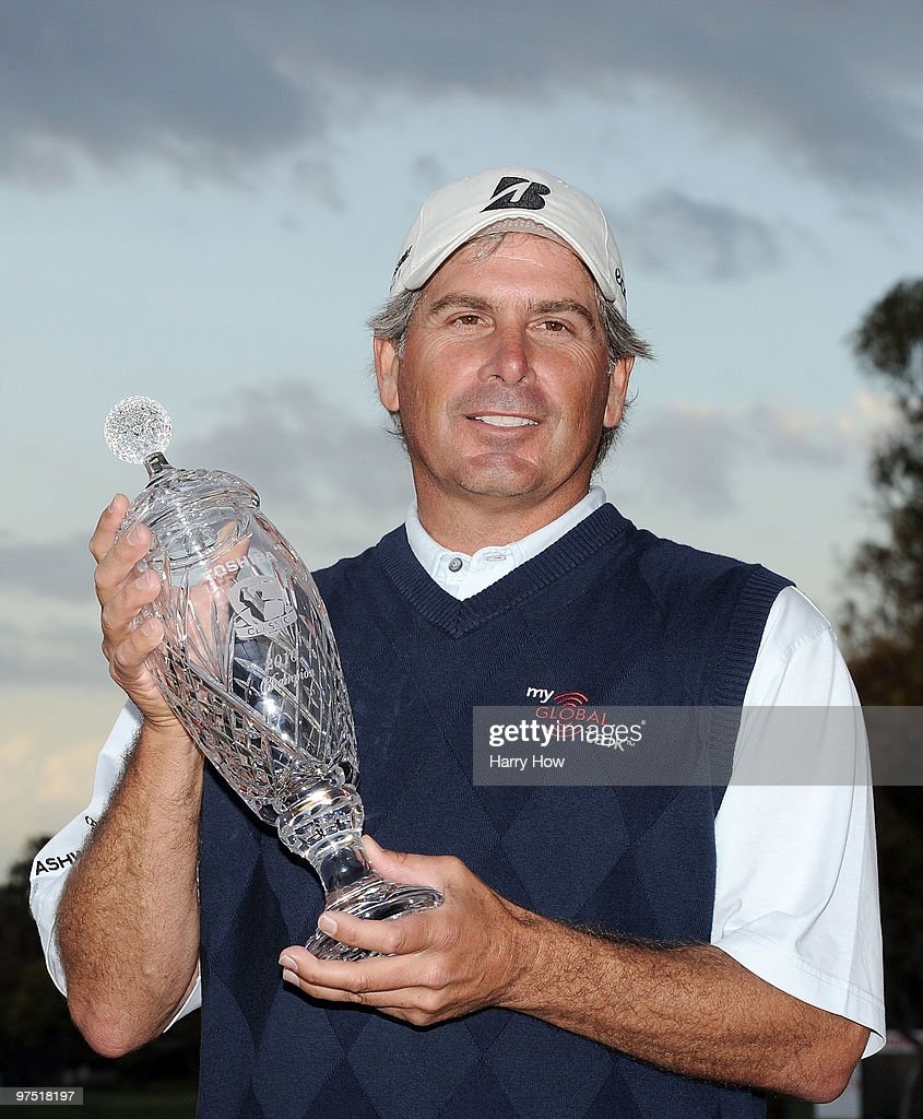 Fred Couples poses with the trophy after the third round of the Toshiba Classic at the Newport Beach Country Club on March 7, 2010 in Newport Beach, California. Couples won by four shots.