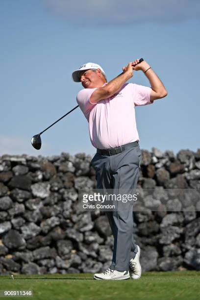 KA'UPULEHUKONA HI JANUARY 18 Fred Couples tees off on the 9th hole during the first round of the PGA TOUR Champions Mitsubishi Electric Championship...