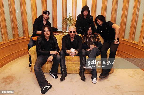 Fred Coury Dee Snider John Corabi Tony Montana Bruce Kulick and Rudy Sarzo backstage before the Monster Circus concert at the Las Vegas Hilton on...