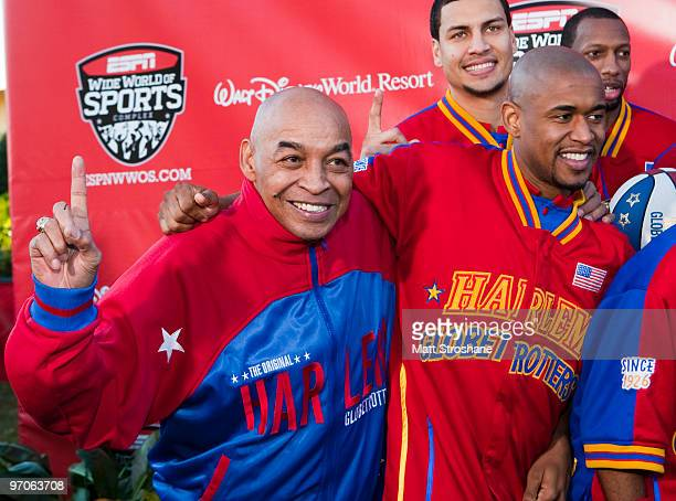 Fred Curly Neal of the Harlem Globetrotters walks the red carpet at the official relaunch of the ESPN Wide World of Sports at Walt Disney World...