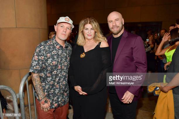 Fred Durst and Kirstie Alley and John Travolta attends the premiere of Quiver Distribution's The Fanatic at the Egyptian Theatre on August 22 2019 in...